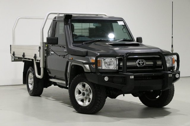 Used Toyota Landcruiser LC70 VDJ79R MY17 GXL (4x4), 2017 Toyota Landcruiser LC70 VDJ79R MY17 GXL (4x4) Graphite 5 Speed Manual Cab Chassis