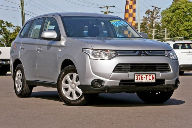 Used Mitsubishi Outlander ZJ MY13 ES 2WD, 2012 Mitsubishi Outlander ZJ MY13 ES 2WD Silver, Chrome 6 Speed Constant Variable Wagon