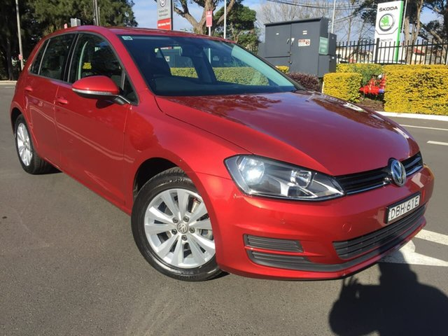 Used Volkswagen Golf VII MY16 92TSI DSG Comfortline, 2015 Volkswagen Golf VII MY16 92TSI DSG Comfortline Red 7 Speed Sports Automatic Dual Clutch