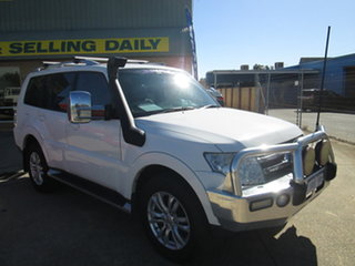 2007 Mitsubishi Pajero NS Exceed White 5 Speed Automatic Wagon.