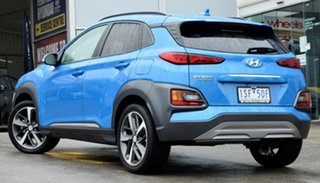 2019 Hyundai Kona OS.3 MY20 Highlander 2WD Blue Lagoon 6 Speed Sports Automatic Wagon.