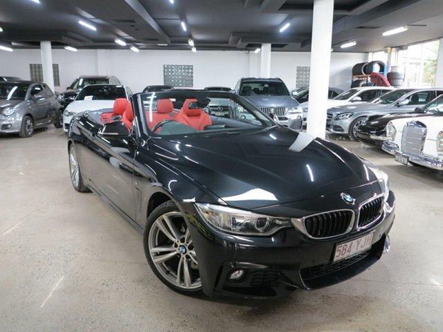 Used BMW 4 Series F33 420i M Sport, 2015 BMW 4 Series F33 420i M Sport Black 8 Speed Sports Automatic Convertible
