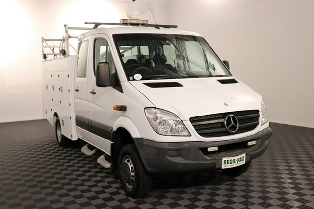 Used Mercedes-Benz Sprinter NCV3 MY12 516CDI LWB (4x4), 2012 Mercedes-Benz Sprinter NCV3 MY12 516CDI LWB (4x4) White 5 speed Automatic Cab Chassis