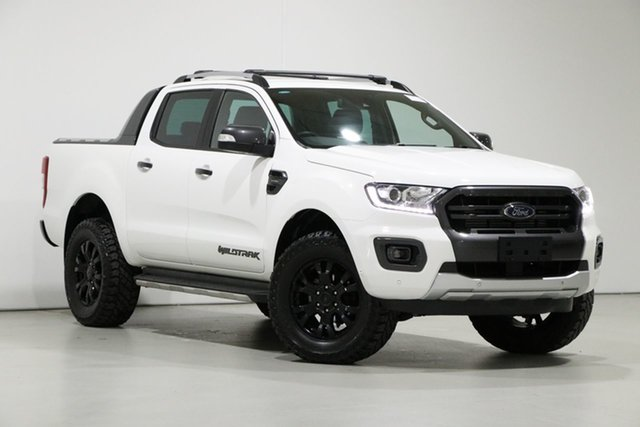 Used Ford Ranger PX MkIII MY20.25 Wildtrak 2.0 (4x4), 2019 Ford Ranger PX MkIII MY20.25 Wildtrak 2.0 (4x4) White 10 Speed Automatic Double Cab Pickup