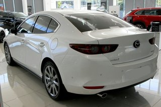 2020 Mazda 3 BP2SLA G25 SKYACTIV-Drive Astina Snowflake White Pearl 6 Speed Sports Automatic Sedan.
