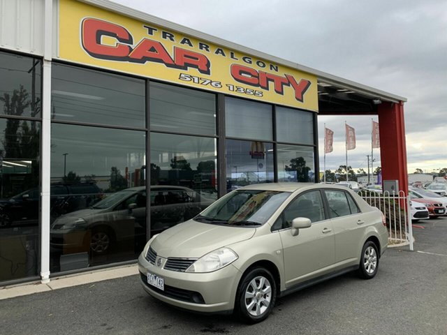 Used Nissan Tiida C11 MY07 ST-L, 2008 Nissan Tiida C11 MY07 ST-L Gold 6 Speed Manual Sedan
