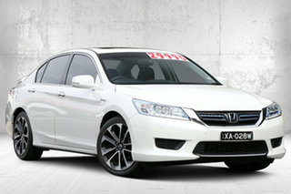 2015 Honda Accord 9th Gen MY15 Sport Hybrid White Orchid 1 Speed Constant Variable Sedan Hybrid.