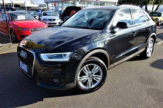 2012 Audi Q3 8U MY13 TDI S Tronic Quattro Black 7 Speed Sports Automatic Dual Clutch Wagon.