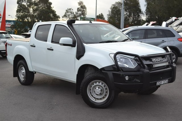 Used Isuzu D-MAX MY17 SX Crew Cab, 2017 Isuzu D-MAX MY17 SX Crew Cab White 6 Speed Manual Utility