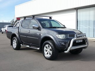2011 Mitsubishi Triton MN MY12 GL-R Double Cab Grey 5 Speed Manual Utility.