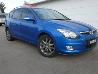2011 Hyundai i30 FD MY11 SLX cw Wagon Blue 4 Speed Automatic Wagon.