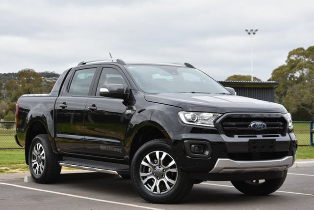 Used Ford Ranger PX MkII 2018.00MY Wildtrak Double Cab, 2018 Ford Ranger PX MkII 2018.00MY Wildtrak Double Cab Black 6 Speed Manual Utility