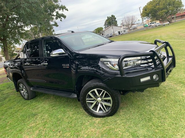 Used Toyota Hilux GUN126R SR5 Double Cab, 2017 Toyota Hilux GUN126R SR5 Double Cab Black 6 Speed Sports Automatic Utility