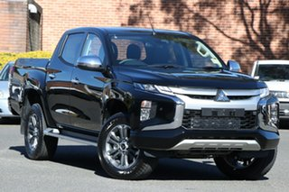 2021 Mitsubishi Triton MR MY21 GLS Double Cab Pitch Black 6 Speed Sports Automatic Utility.