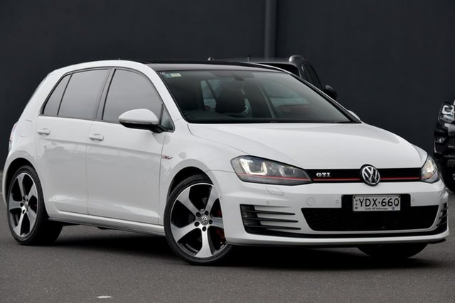 Used Volkswagen Golf VII MY16 GTi, 2016 Volkswagen Golf VII MY16 GTi White 6 Speed Manual Hatchback