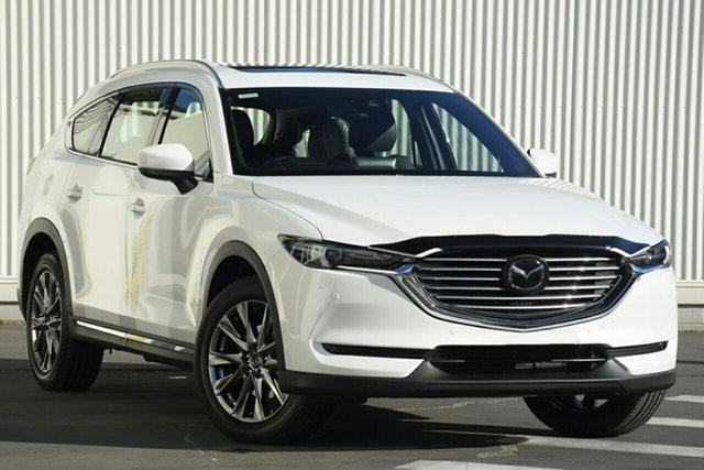 New Mazda CX-8 KG2W2A Asaki SKYACTIV-Drive FWD Liverpool, 2021 Mazda CX-8 KG2W2A Asaki SKYACTIV-Drive FWD Snowflake White Pearl 6 Speed Sports Automatic Wagon