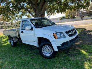 2010 Holden Colorado RC MY10 LX 4x2 White 5 Speed Manual Cab Chassis.