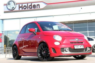2014 Abarth 595 Series 3 Turismo Dualogic Tri Red Pearl 5 Speed Sports Automatic Single Clutch.