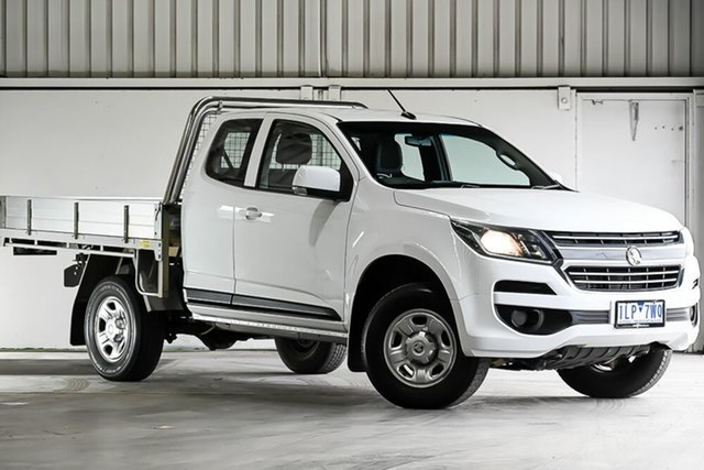 Used Holden Colorado RG MY17 LS Space Cab, 2017 Holden Colorado RG MY17 LS Space Cab White 6 Speed Sports Automatic Cab Chassis