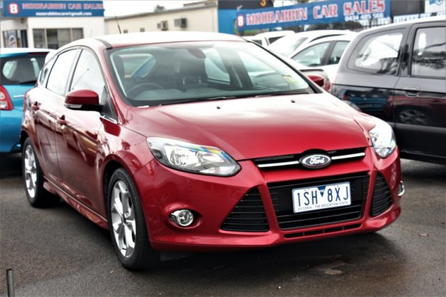 Used Ford Focus LW MkII MY14 Sport PwrShift, 2015 Ford Focus LW MkII MY14 Sport PwrShift Red 6 Speed Sports Automatic Dual Clutch Hatchback