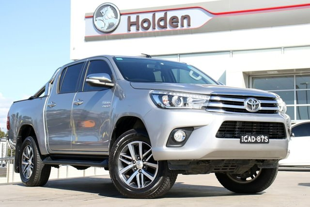 Used Toyota Hilux GUN126R SR5 Double Cab, 2015 Toyota Hilux GUN126R SR5 Double Cab Silver Sky 6 Speed Sports Automatic Utility