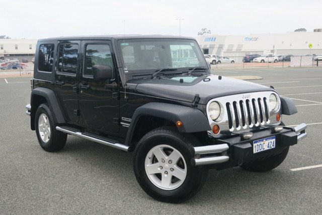 Used Jeep Wrangler JK MY2010 Unlimited Sport, 2009 Jeep Wrangler JK MY2010 Unlimited Sport Black 5 Speed Automatic Softtop