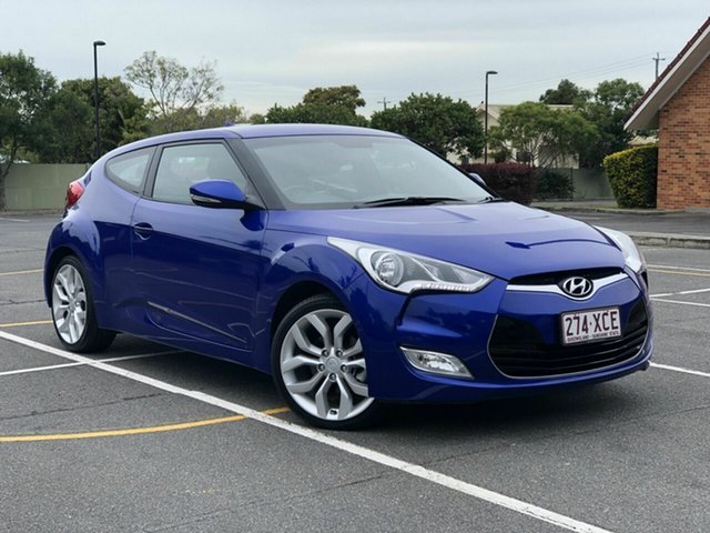 Used Hyundai Veloster FS2 Coupe, 2013 Hyundai Veloster FS2 Coupe Blue 6 Speed Manual Hatchback