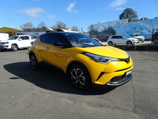 2017 Toyota C-HR NGX10R Koba S-CVT 2WD Hornet Yellow – Black Roof 7 Speed Constant Variable Wagon.