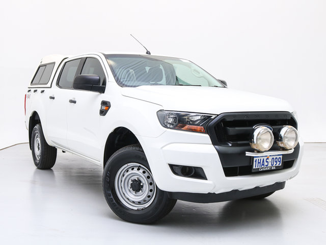 Used Ford Ranger PX MkII XL 3.2 (4x4), 2015 Ford Ranger PX MkII XL 3.2 (4x4) White 6 Speed Manual Cab Chassis