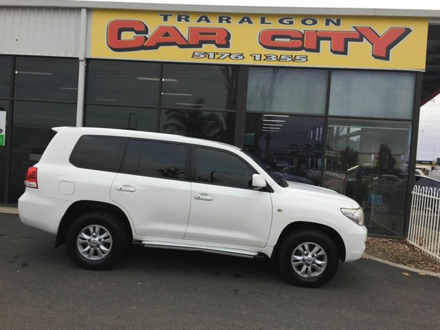 Used Toyota Landcruiser VDJ200R 09 Upgrade GXL (4x4), 2011 Toyota Landcruiser VDJ200R 09 Upgrade GXL (4x4) White 6 Speed Automatic Wagon