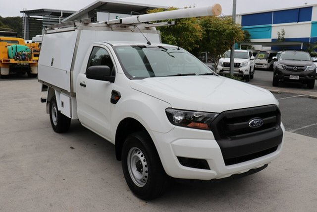 Used Ford Ranger PX MkII XL 4x2 Hi-Rider, 2015 Ford Ranger PX MkII XL 4x2 Hi-Rider Cool White 6 speed Automatic Cab Chassis