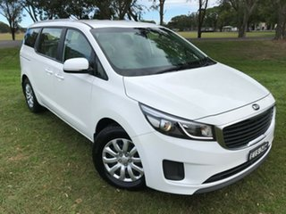 2017 Kia Carnival YP MY17 S White 6 Speed Sports Automatic Wagon.