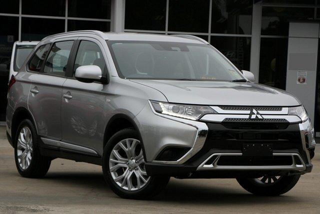 Demo Mitsubishi Outlander ZL MY20 ES 2WD, 2019 Mitsubishi Outlander ZL MY20 ES 2WD Sterling Silver 6 Speed Constant Variable Wagon