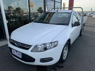 2013 Ford Falcon FG MK2 (LPi) White 6 Speed Automatic Cab Chassis.