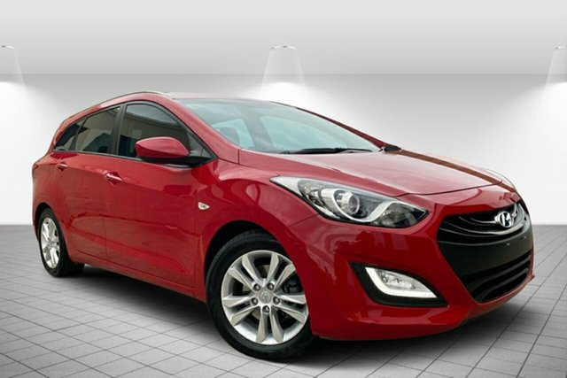 Used Hyundai i30 GD Active Tourer, 2014 Hyundai i30 GD Active Tourer Red 6 Speed Sports Automatic Wagon