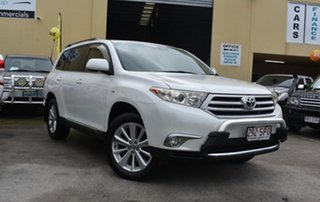 2012 Toyota Kluger GSU45R MY11 Upgrade Altitude (4x4) 7 Seat White 5 Speed Automatic Wagon