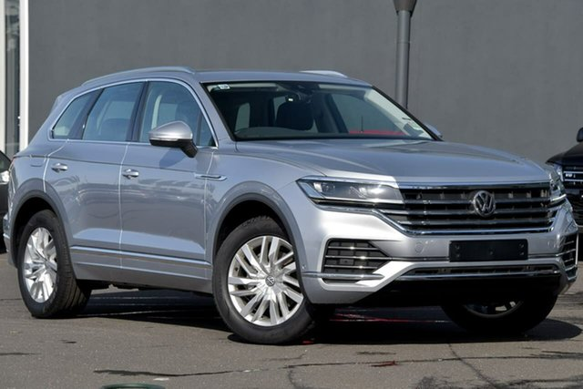Demo Volkswagen Touareg CR MY20 190TDI Tiptronic 4MOTION Moorabbin, 2020 Volkswagen Touareg CR MY20 190TDI Tiptronic 4MOTION Silver 8 Speed Sports Automatic Wagon