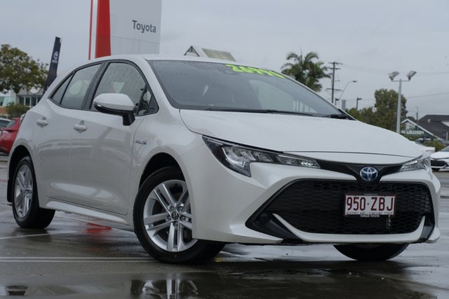 Used Toyota Corolla ZWE211R Ascent Sport E-CVT Hybrid, 2019 Toyota Corolla ZWE211R Ascent Sport E-CVT Hybrid Crystal Pearl 10 Speed Constant Variable
