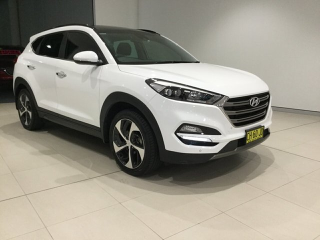 Used Hyundai Tucson TLE Highlander D-CT AWD, 2016 Hyundai Tucson TLE Highlander D-CT AWD White 7 Speed Sports Automatic Dual Clutch Wagon