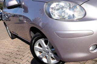 2010 Nissan Micra K13 TI LA Lilac 4 Speed Automatic Hatchback.