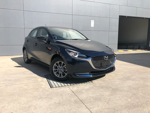 New Mazda 2 DJ2HA6 G15 SKYACTIV-MT Pure, 2020 Mazda 2 DJ2HA6 G15 SKYACTIV-MT Pure Deep Crystal Blue 6 Speed Manual Hatchback