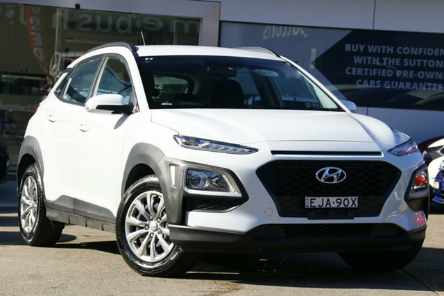 Used Hyundai Kona OS.3 MY20 GO (FWD), 2019 Hyundai Kona OS.3 MY20 GO (FWD) White 6 Speed Automatic Wagon