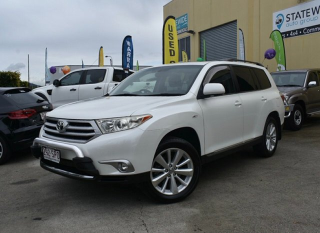 Used Toyota Kluger GSU45R MY11 Upgrade Altitude (4x4) 7 Seat, 2012 Toyota Kluger GSU45R MY11 Upgrade Altitude (4x4) 7 Seat White 5 Speed Automatic Wagon