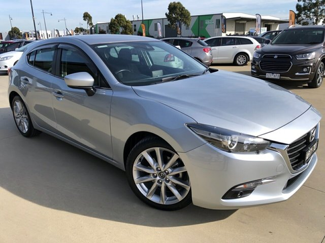 Used Mazda 3 BN5438 SP25 SKYACTIV-Drive, 2017 Mazda 3 BN5438 SP25 SKYACTIV-Drive Sonic Silver 6 Speed Sports Automatic Hatchback