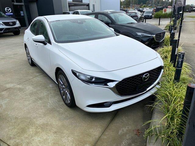 New Mazda 3 BP2SLA G25 SKYACTIV-Drive GT, 2019 Mazda 3 Mazda3 G25 SKYACTIV-Drive GT Snowflake White Pearl 6 Speed Sports Automatic Sedan