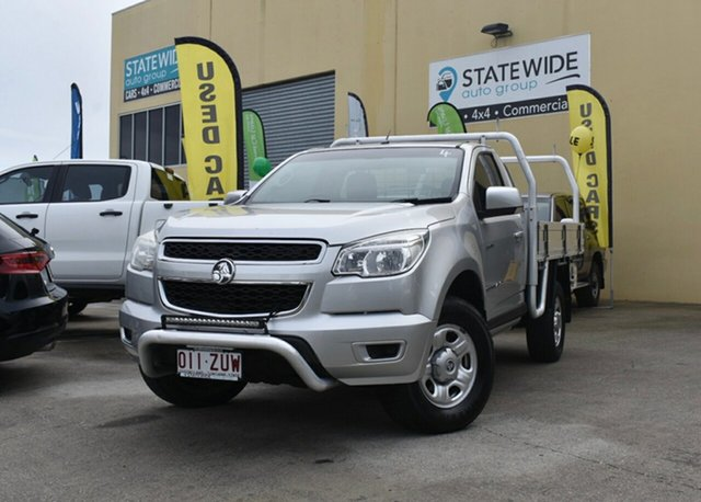 Used Holden Colorado RG LX (4x4), 2013 Holden Colorado RG LX (4x4) Silver 5 Speed Manual Cab Chassis