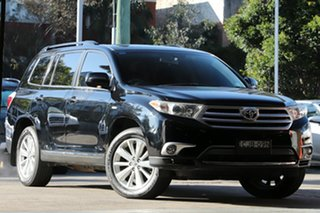 2012 Toyota Kluger GSU40R MY11 Upgrade Altitude (FWD) 7 Seat Black 5 Speed Automatic Wagon.