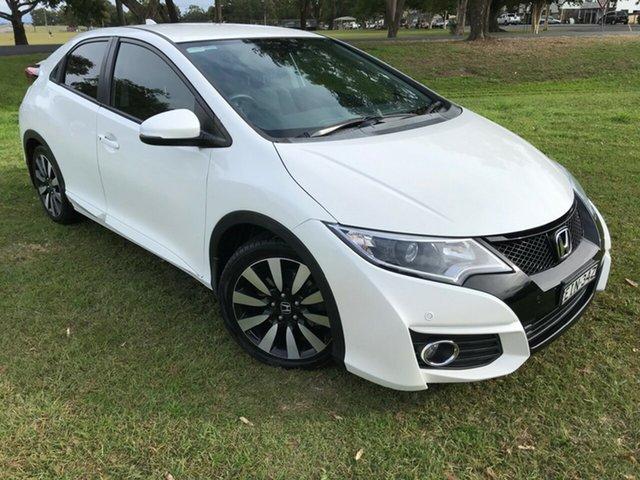 Used Honda Civic 9th Gen MY15 VTi-LN, 2016 Honda Civic 9th Gen MY15 VTi-LN White 5 Speed Sports Automatic Hatchback