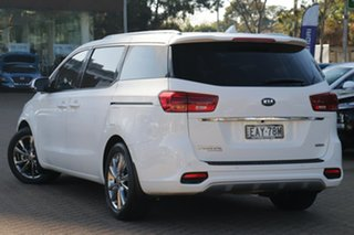 2018 Kia Carnival YP PE MY19 Platinum Clear White 8 Speed Automatic Wagon.