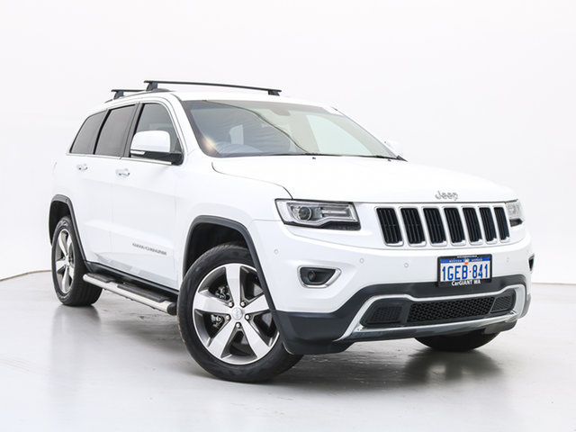 Used Jeep Grand Cherokee WK MY15 Limited (4x4), 2016 Jeep Grand Cherokee WK MY15 Limited (4x4) White 8 Speed Automatic Wagon